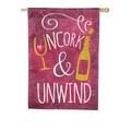 Uncork and Unwind Linen Banner