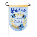 Forsythia Welcome Linen Garden Flag