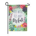 My Faith Linen Garden Flag