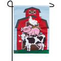 Stacked Farm Animals Garden Flag
