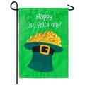 Happy St. Patrick's Day Pot of Gold Garden Flag