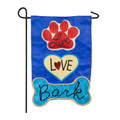 Live Love Bark Garden Flag