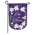He Is Risen Easter Lily Garden Flag