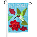 Hummingbird Welcome Garden Flag