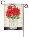 Geranium Blooms Garden Flag