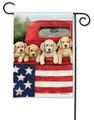 Patriotic Puppies Garden Flag