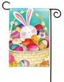 Bunny Basket Garden Flag