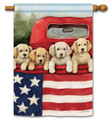 Patriotic Puppies Standard Flag