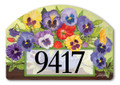 Pretty Pansy and Birdhouse Yard Sign