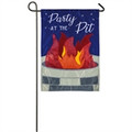 Party At The Pit Garden Flag