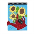 Sunflower Watering Can Garden Flag
