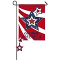 God Bless America Stars Garden Flag