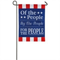 For The People Garden Burlap Flag