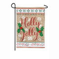 Holly Jolly Garden Flag