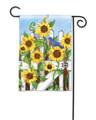 Sunflower Gate Garden Flag