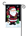 Buffalo Check Santa Garden Flag