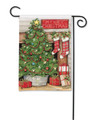 Christmas Tree Fireplace Garden Flag