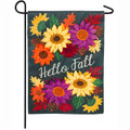 Hello Fall Floral Garden Flag