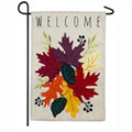Welcome Leaves Fall Garden Flag