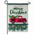 Holiday Red Truck Garden Flag