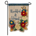 Thankful & Blessed Floral Garden Flag