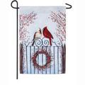 Winter Birds & Berries Garden Flag