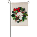 Holiday Owl Garden Flag