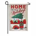 Home for the Holidays Camper Garden Flag