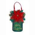 Poinsettia Mason Jar Door Decor