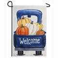 Fall Pumpkin PIck-up  Truck Garden Flag
