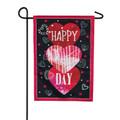 Valentine's Heart Trio Garden Flag