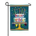 Happy Birthday Linen Garden Flag