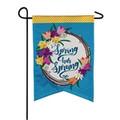 Spring Has Sprung Linen Garden Flag