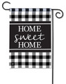 Home Sweet Home Black & White Garden Flag