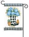 Wellies Black & White Garden Flag
