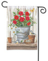 Bucket of Blooms Garden Flag