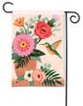 Hummingbird Terra Flora Garden Flag