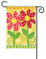 Folk Flowers Garden Flag