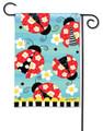 Folk Ladybugs Garden Flag