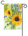Sunflowers On Gingham Garden Flag