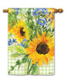 Sunflowers on Gingham