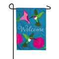 Hummingbirds and Petunias Garden Flag