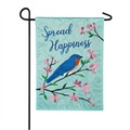 Spread Happiness Bluebird Garden Flag