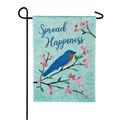 Spread Happiness Bluebird Garden Flag