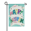 Happy Easter Jumping Bunnies Garden Flag