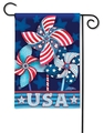 Celebrate America Patriotic Pinwheels Garden Flag
