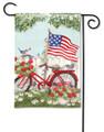 Patriotic Bike Garden Flag