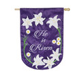 He is Risen Easter Lily Banner