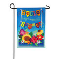Hello Bright Beautiful Summer Linen Garden Flag