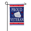 Proud Veteran Garden Flag